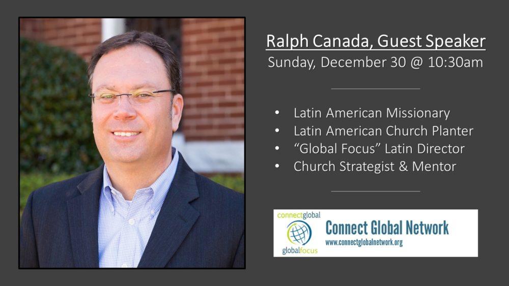 Ralph Canada, Guest Speaker
