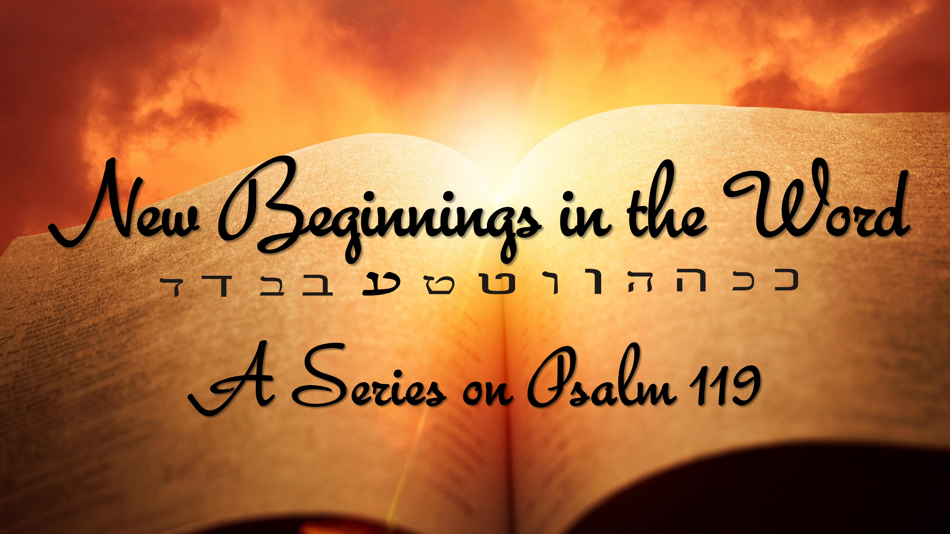 New Beginnings in The Word By Sharing God's Word - New Beginnings in