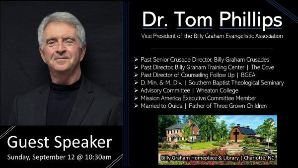 Dr. Tom Phillips, Guest Speaker Image